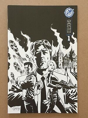 Ghosted #1 Skybound 5th Anniv. Sdcc Exclusive B&w Variant Cover 1st Printing Nm-
