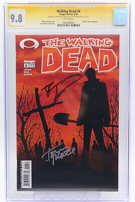 """Walking Dead # 6 Cgc 9.8 """"death"""" Of Jim And Shane Signed By Robert Kirkman Image"""