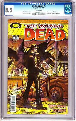 Walking Dead 1 Cgc 8.5 Vf+ Image Comics 1st Rick Grimes White Pages Bin