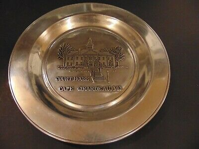 Cape Girardeau Common Pleas Courthouse 3d Relief Pewter Plate Wall Plaque Wilton
