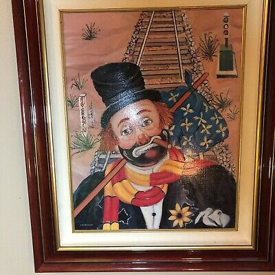 "Red Skelton ""the Traveler"" Print On Canvas 399/2500"