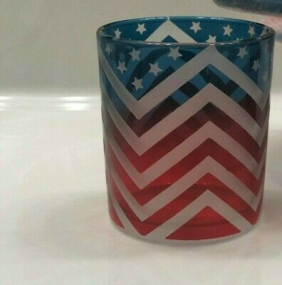 Yankee Candle~american Chevron~~3 Pc Set~very Hard To Find~~retired