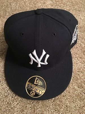 New York Yankee 5950 New Era Sz 7 1/8 Mlb 2003  World Serious 100th Years Grey
