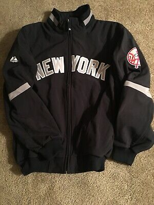 New York Yankee 2006 Away Field Jacket Majestic Nwt Size Large (l) Game Issued