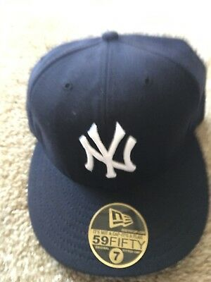 New York Yankee New Era Size 7 Mlb 5950 Grey Bottom Wool Cap Nyc Nwt 2005 Hat