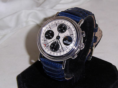 "Solid 18k. White Gold W/swiss Valjoux 7751 Movement""very Hard To Find"