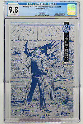 Walking Dead Skybound 5th Anniversary Edition #1 Cgc 9.8 - Blue Sketch Cover.