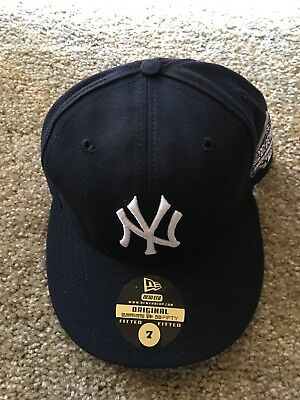 New York Yankee New Era Sz 7 Mlb 2003 World Serious 100th Nyc 5950 Nwt Grey