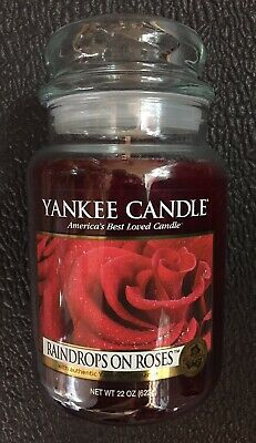 New Yankee Candle 22oz. Lg Jar Raindrops On Roses My Favorite Things Collection