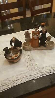 Lot  2 Yankee Candle Boney Bunch Bobbing For Apple Prom King And Queen Halloween