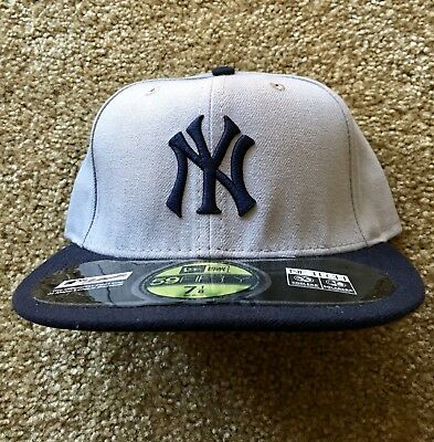 Ny Yankee New Era Hat 5950 2012 7 1/8 Mlb Nwt Turn Back The Clock 1912 New York