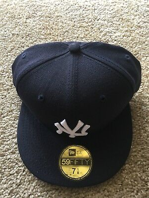 New York Yankee New Era 7 1/8 Mlb 5950 Grey Bottom Wool Nyc Nwt Fitted