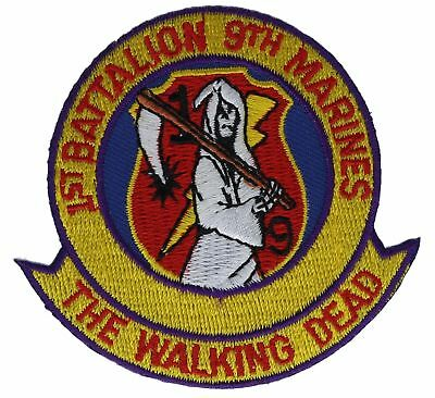 9th Marines 1st Battalion The Walking Dead Iron On 3 Inch Patch Hfl1276 F1d13o