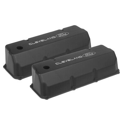 Proflow Vc-510 Cast Valve Covers Ford Cleveland 302 351c Tall Black W/hole