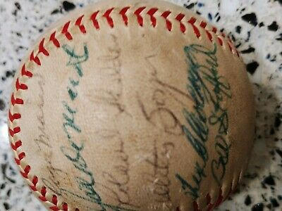Yankee World Series Signed Ball 1961