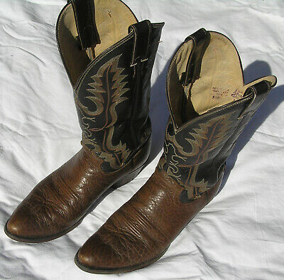 Justin Boots Size 9.5 B Rare 2222 Rick Grimes The Walking Dead Cosplay Bullhide
