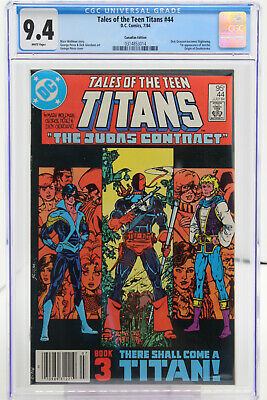 Tales Of The Teen Titans # 44 Cgc 9.4 - Canadian Price Variant - Dc Comics - 84
