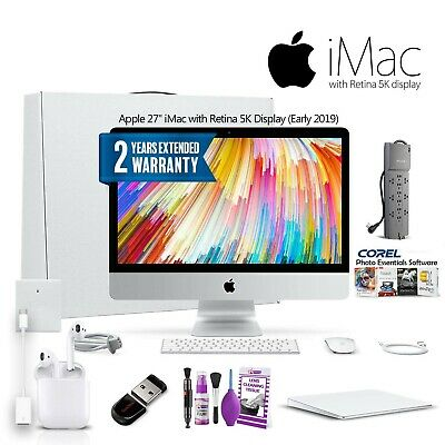 Apple 27-inch Imac With Retina 5k Display (2019) Mrr02ll/a With Powerstrip, 2...