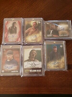 Walking Dead Autograph Lot Norman Reedus And More!