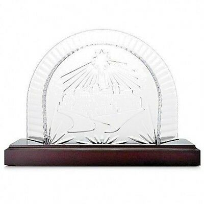 Waterford Crystal Nativity Creche Scene Plinth Wood Stand #40023542 New