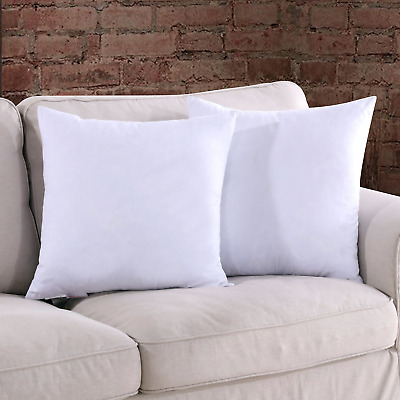 Homelike Moment 20x20 Feather Down Pillow Insert - Square Couch Throw Pillow Set