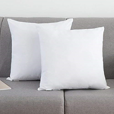 Rosmarus Down Feather Throw Pillow Inserts 20x20 Set Of 2 Square Form Sham White