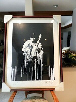 N Y Yankee Great Babe Ruth Autographed Limited Edition Art Litho Framed
