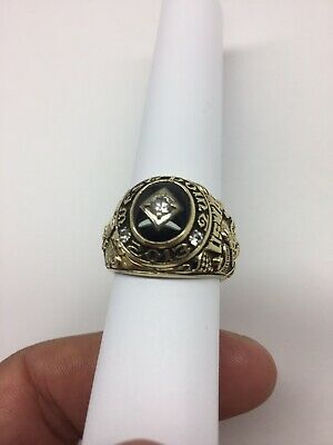 Men's West Point Usma 14k Gold 18.8 Dwt Class Ring 2013 Sz 9.5