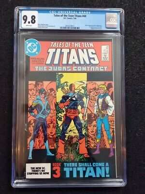Tales Of The Teen Titans 44 Cgc 9.8 White! 1st Nightwing Titans Tv Appearance!