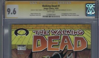 The Walking Dead #1 Comic 4x Cast Signed Cgc 9.6 Awsome Sigs Must See And Judge