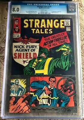 Strange Tales #135 Cgc 8.0 1st App. Of Nick Fury Agent Of Shield - White Pages