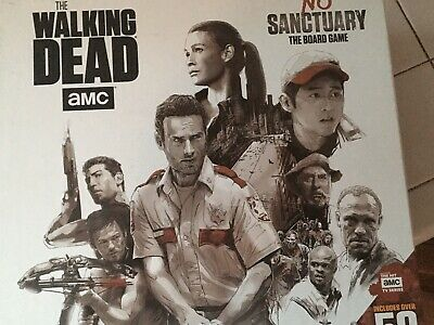 Walking Dead No Sanctuary Board Game W/ Expansion Painted Minis