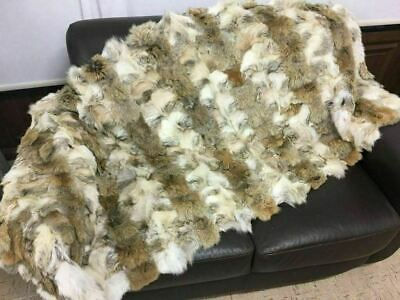 New Coyote  Fur Blanket Bedspread  Available In Throw Twin Queen Or King Size