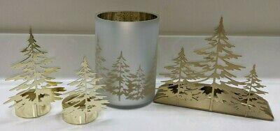 Yankee Candle~4 Pc Set~gold Winter Tree
