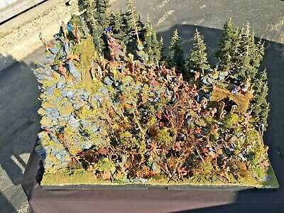 Ancient World Fantasy Land Of Warrior Woman Overtaken By The Roman Army Diorama