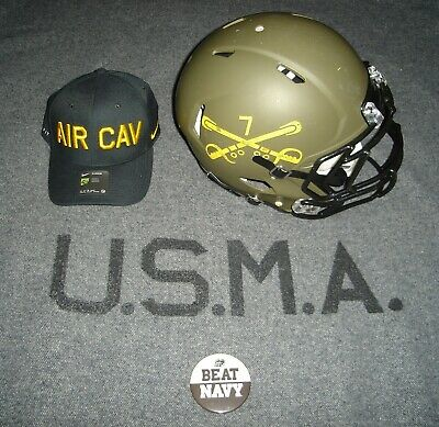 West Point Army Navy Game Black Knights Game Used Football Helmet Look! Rare!