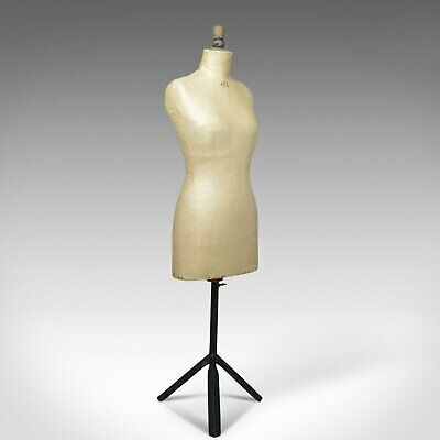 french antique dress makers dummy, adjustable height, three quarter, c.1900