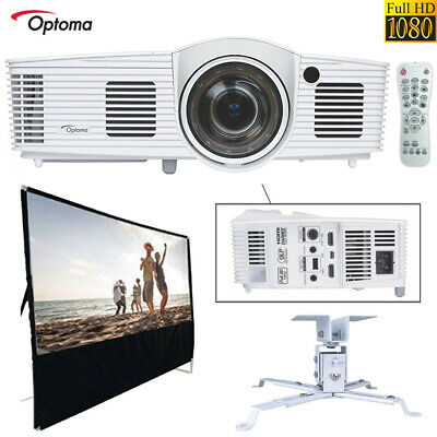 Optoma Short Throw Gaming Projector (refurb.) All In One Home Theater Bundle