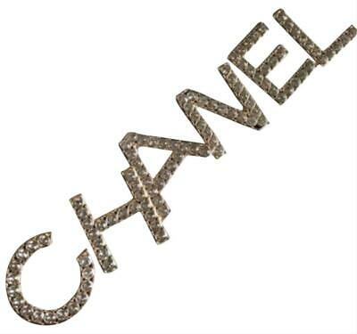 Nwt 2019 Runway Chanel Letter Logo Crystal Pin Brooch Set Of 6 Sold Out!