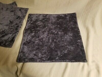 """Bella Notte 20""""x20"""" Hendrix Throw Pillow W/ Knife Edge In Graphite Nwt Set Of 3"""