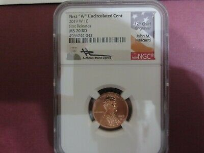 2019 W Lincoln West Point Cent Ngc Ms70rd First Release Mercanti Signed