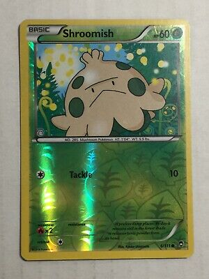 Pokemon Card Furious Fists Reverse Holo Shroomish 6/111. FREE SHIPPING!