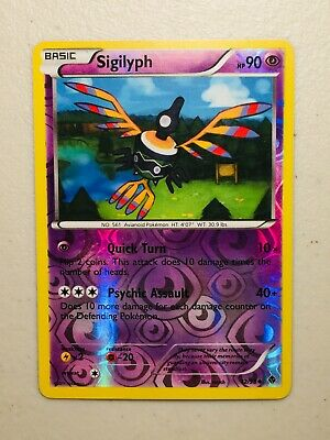 Pokemon Card BW Emerging Powers Reverse Holo Sigilyph 42/98. FREE SHIPPING!