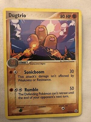 Pokemon DUGTRIO 22/112 Rare FireRed & LeafGreen - Slightly Used