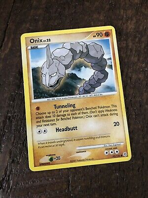 Pokemon Common Card Onix 92/130 Diamond & Pearl