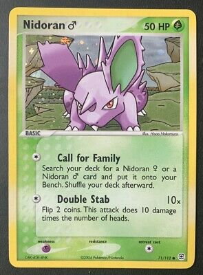 NM/M Nidoran M Male 72/112 Reverse HOLO EX FireRed & LeafGreen Fire Red Pokemon