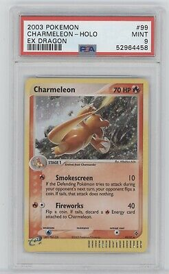Pokemon 2003 EX Dragon CHARMELEON 99/97 Holo PSA 9 Mint 52964458