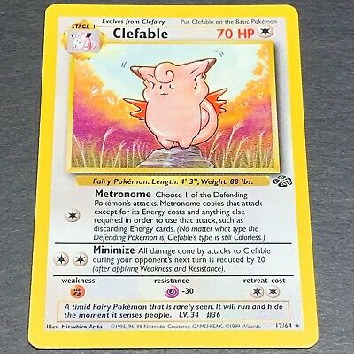Pokemon Jungle Set RARE Clefable 17/64 - Near Mint (NM) Condition