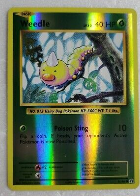 Weedle Reverse Holo Xy Evolutions 8/108 2016 Never Played Pokemon💥 💥