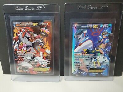 FULL ART Team Aqua's Kyogre EX 6 + Magma's Groudon EX 15 Pokemon Double Crisis